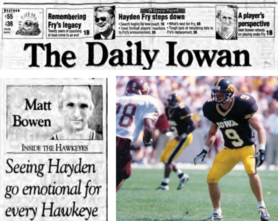 Hawkeye safety Matt Bowen provided unique perspective as DI columnist.